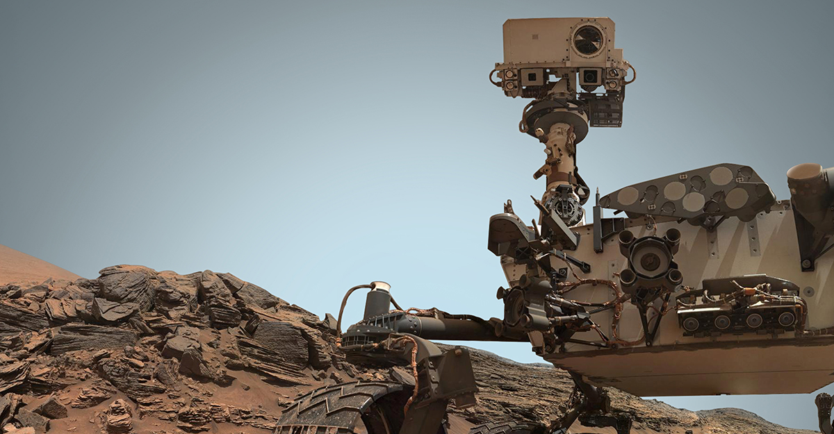 Mars rover exploring the red planet.
