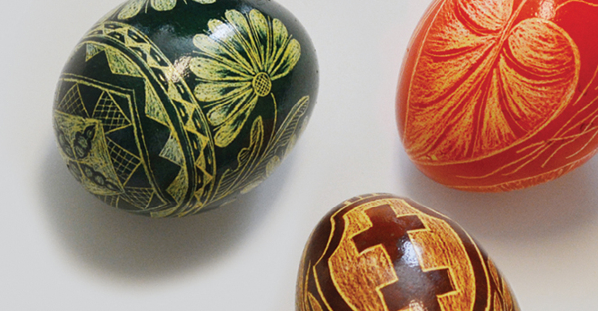 Decorated folk art eggs