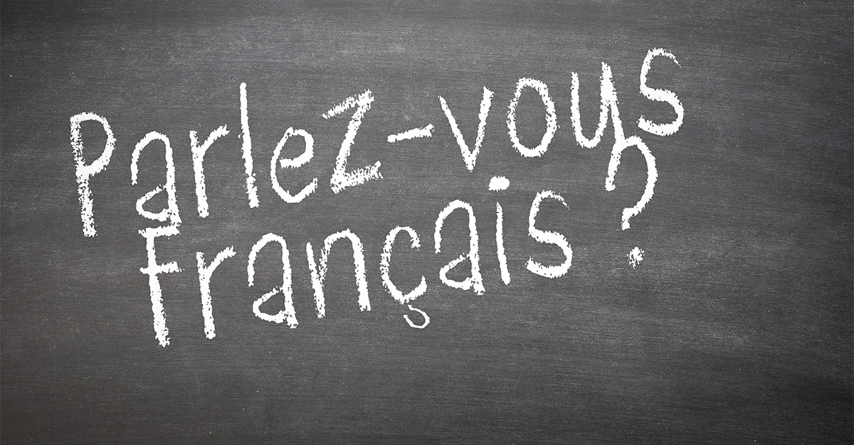 Do you speak French written out on chalkboard in French