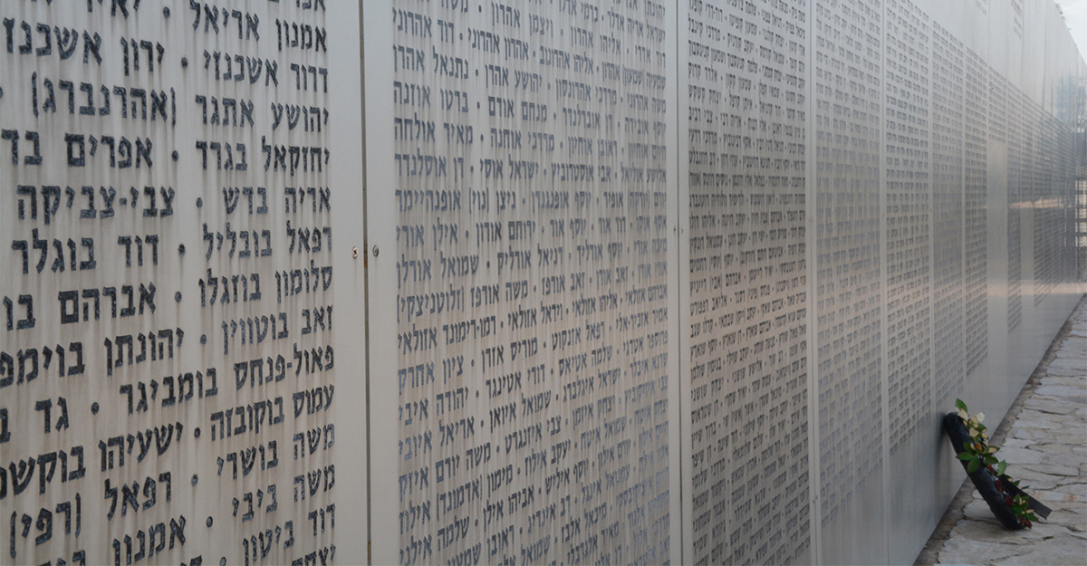 Close up of Latrun memorial