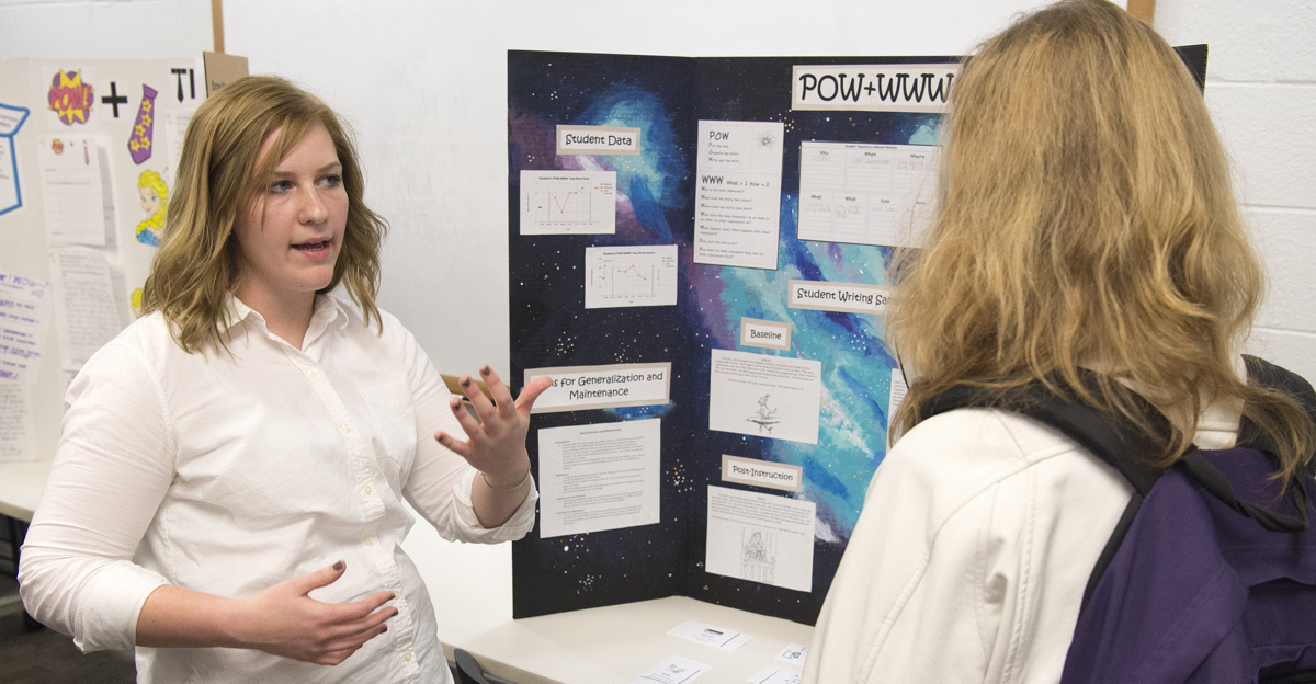 Special education students have opportunities to engage in research with faculty members.