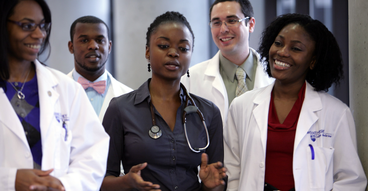 Students in the Penn State College of Medicine MD Program